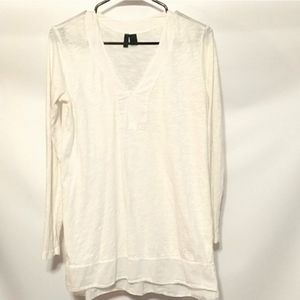 Left of Center Anthropologie White  long sleeve